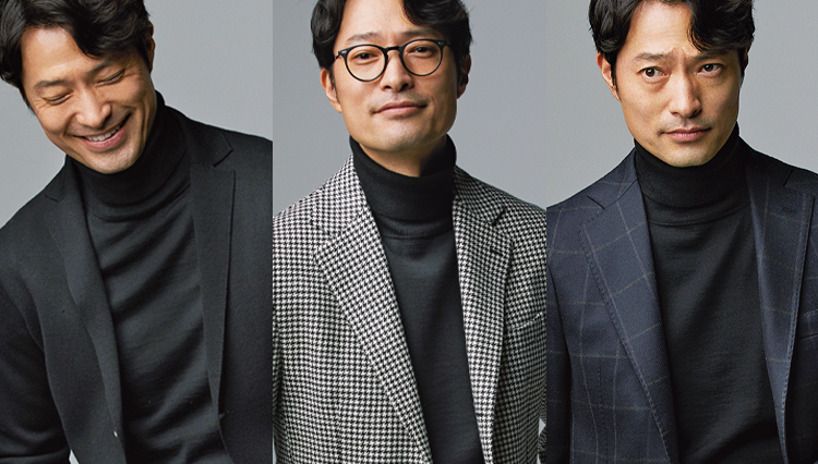 「黒のタートルネック」を着るだけで、40代メンズのジャケット姿は好感度UPできる!