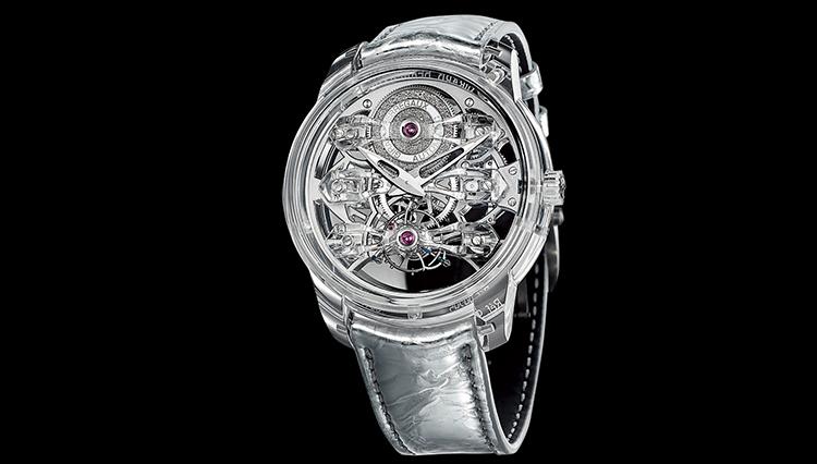サファイアクリスタルの透明感に名門マニュファクチュールが挑む【超弩級 複雑腕時計図鑑】