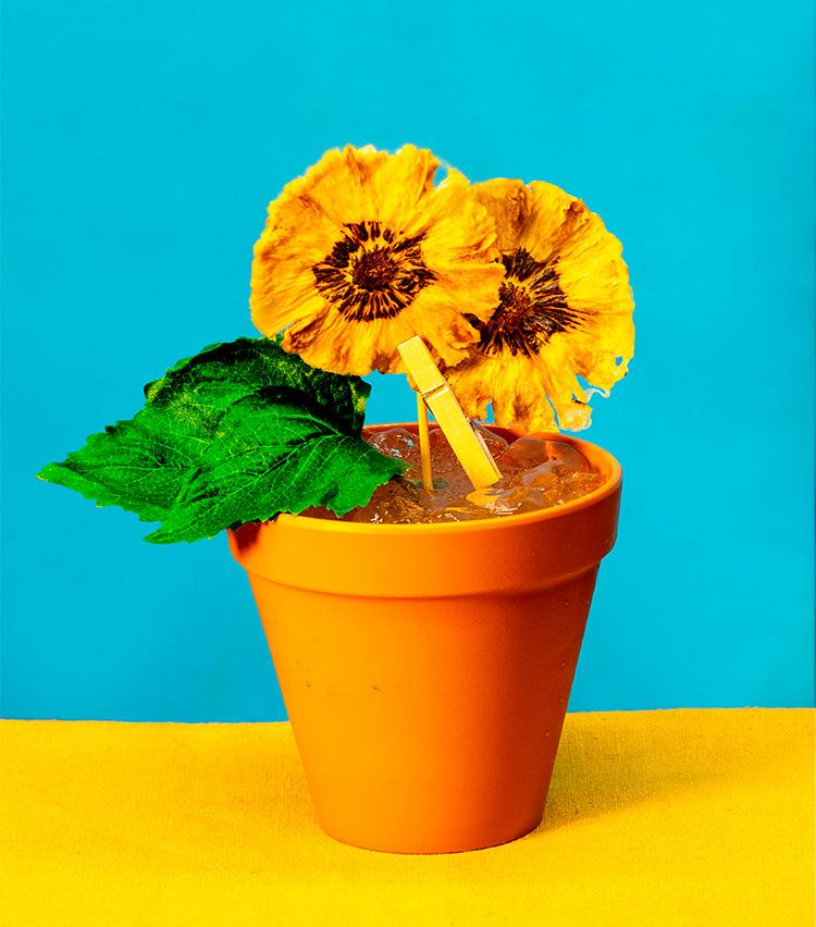 <p>ヴィンセント・ヴァン・ゴッホの作品をモチーフとした「Sunflower」2000円(税サ別)</p>