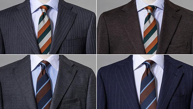 「マルチストライプのネクタイ」がトレンド。まず取り入れるなら3色のストライプを