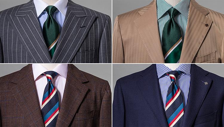 胸元が華やかになる「マルチストライプ」のネクタイ柄。どう合わせるべき?