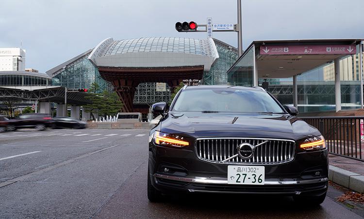 ボルボV90で金沢をドライブ