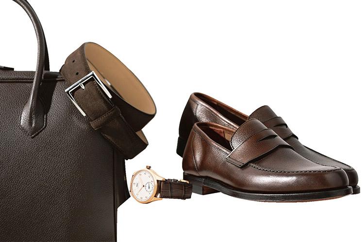 皮小物と時計