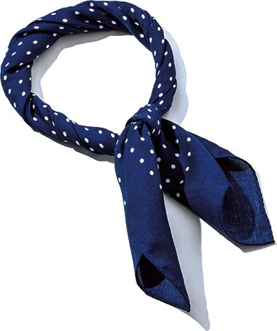 ポルカドットスカーフ