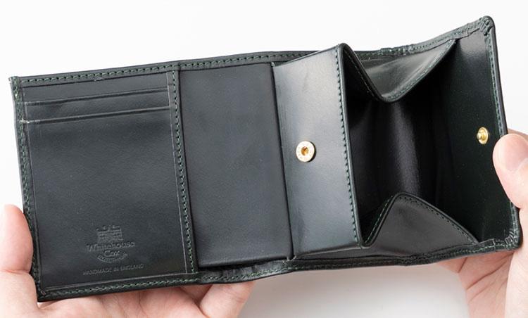 <p>《ホワイトハウスコックス/内装2》<br /> コインポケットは大きく開くから取り出しやすい!</p>