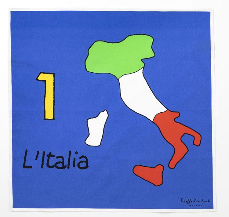 イタリアモチーフのハンカチ