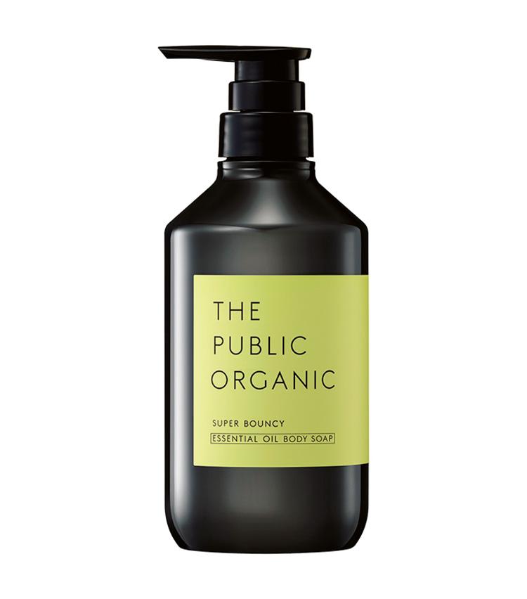 <p><strong>The Public Organic<br /> ザ パブリック オーガニックのスーパーバウンシー ディープモイスト ボディソープ</strong><br /> 花粉で揺らぐ季節はボディケアもそれに適したものを。アミノ酸系と石けん系の2つの洗浄成分を配合し、肌に優しいのにしっかり汚れは落とす処方が秀逸。ユズ果実エキスなどで乾燥対策にも◎。480ml 1280円(カラーズ)</p>