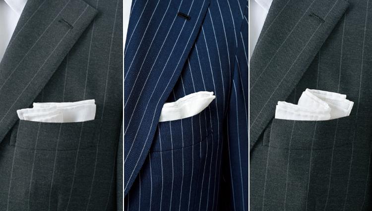 ポケットチーフにニュアンスをつける5つのコツ【ビジネスの装いルール完全BOOK】