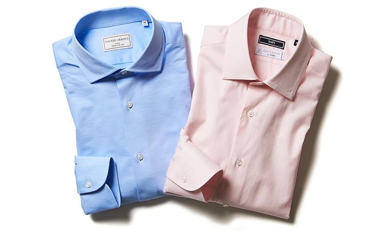 ピンクとブルーのカラーシャツ