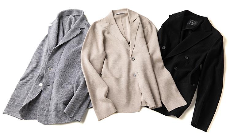 ニットジャケット3種