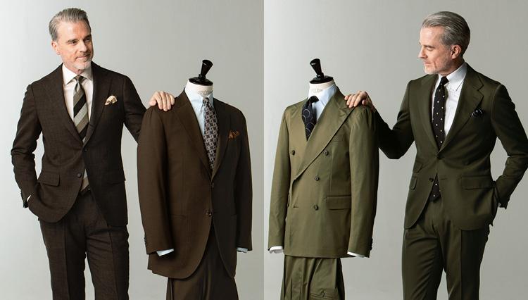 紺とグレーのスーツに飽きたら「グリーン」か「ブラウン」に挑戦してみよう