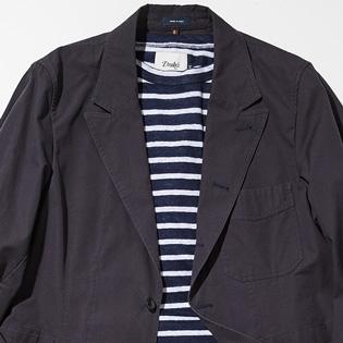 休日のジャケットスタイルを爽やかにするには?【1分で出来る胸元お洒落】