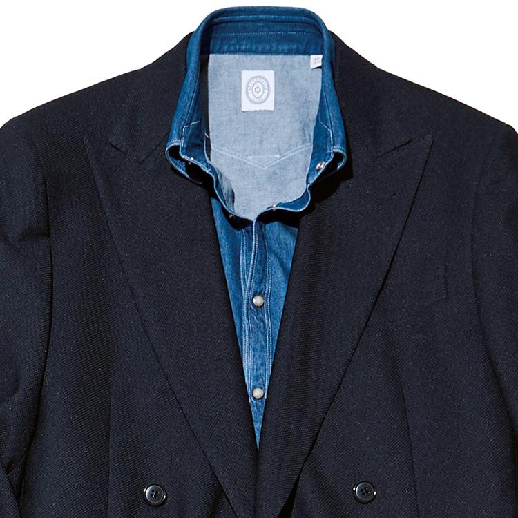 オンオフ使えるノータイシャツとは?【1分で出来る胸元お洒落】
