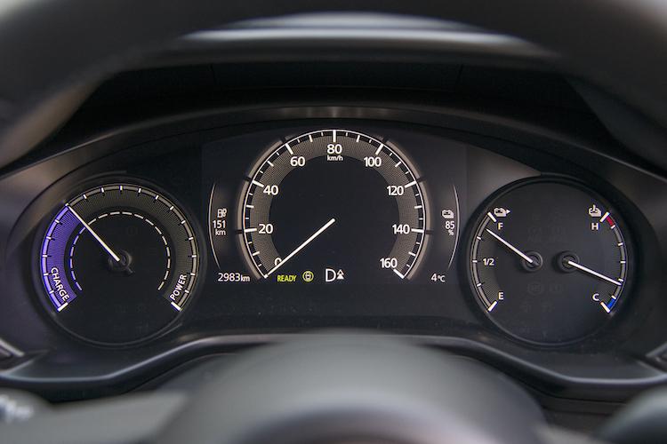 <p>EV専用メーターパネルを装着する。バッテリー量は右側のメーターと左側の数値で表示してくれる。</p>