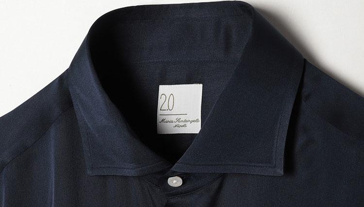 マリア・サンタンジェロのストレッチ混シルクシャツ