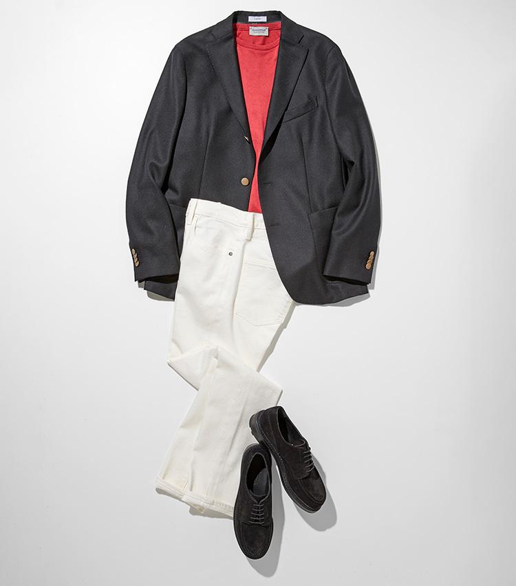 白黒デニムはモノトーン+1色で着る_P34サブ1