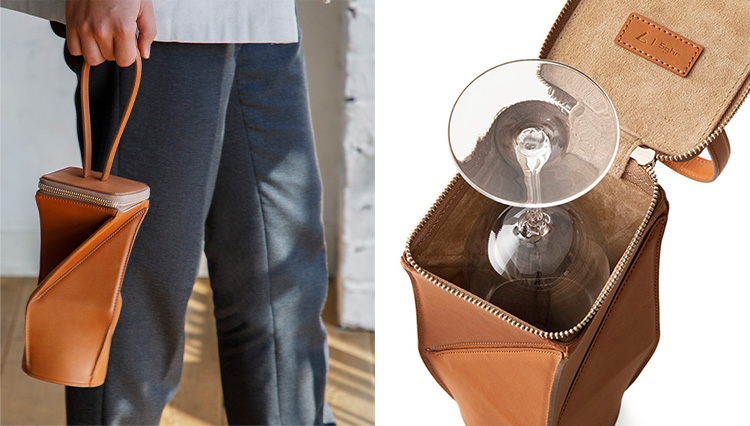 土屋鞄製造所×スガハラの「ワイングラスケース」が洒落ている