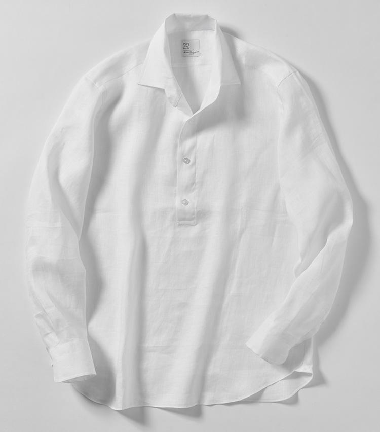 マリア サンタンジェロのリネンカプリシャツ