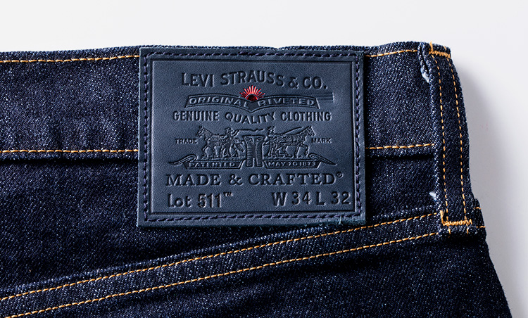 LEVI'S MADE&CRAFTED 511 リンス MADE IN JAPAN タグ