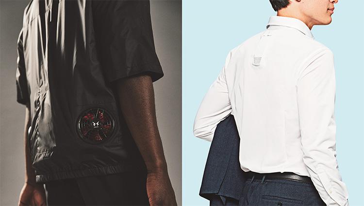 酷暑に空調ガジェット付きのシャツ。取り入れやすいのはこの2つ