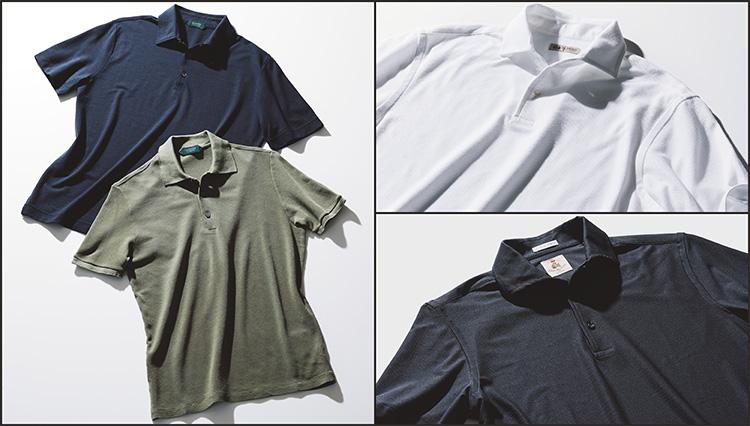 人気の涼感素材ポロシャツ、おじさんっぽく見えないのはこのタイプ