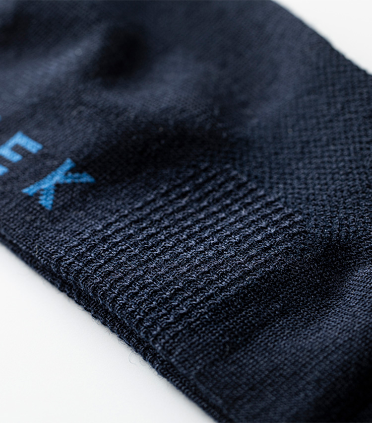 シークの靴下。アーチサポート力を強化