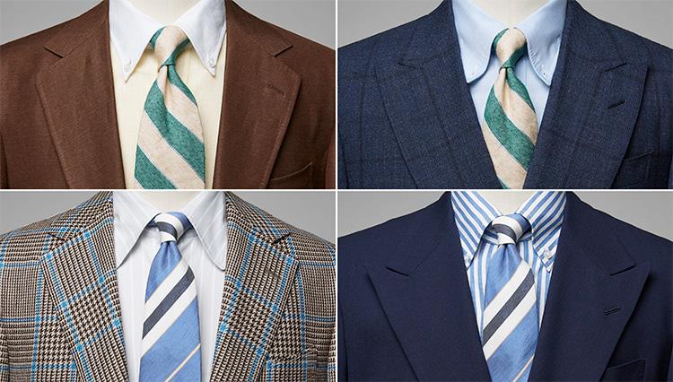夏場のスーツ姿を涼しく見せる「リネンのネクタイ」爽やかコーデ4選