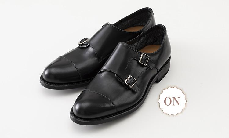 革でも通気性抜群なオン靴&オフ靴_リーガル