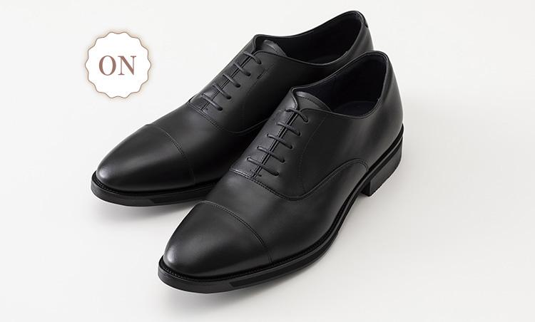 革でも通気性抜群なオン靴&オフ靴_アシックスランウォーク