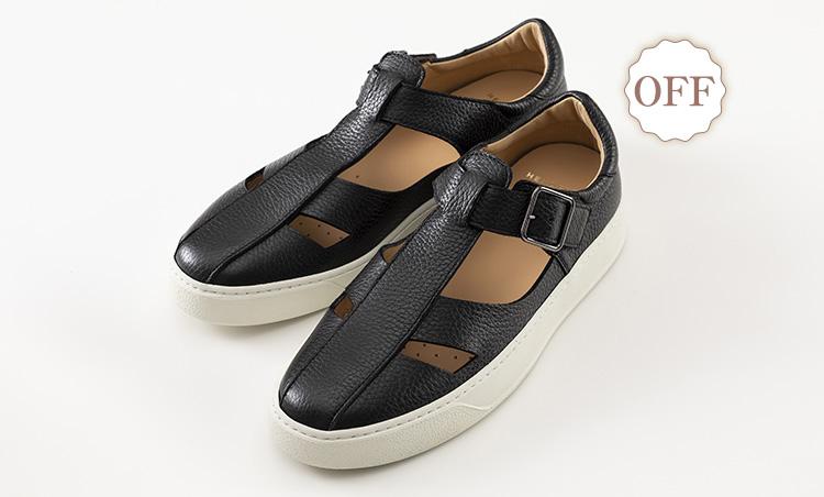革でも通気性抜群なオン靴&オフ靴_ヘンダーソン