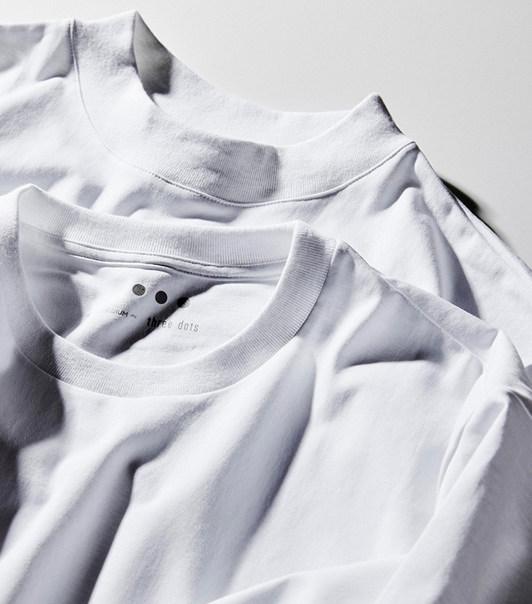 スリードッツのパックTシャツ_アップ