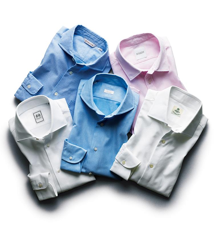 リアルに使える、ビジネスカジュアル編_夏の定番、絡み織りのシャツ