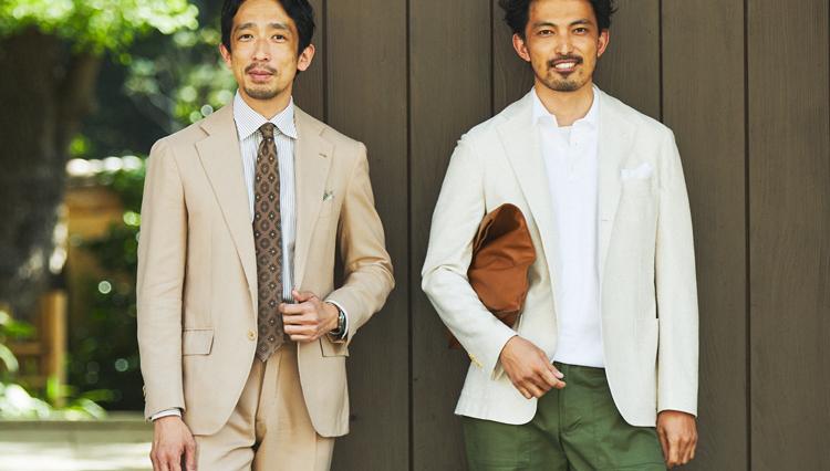 ベージュやオフ白のスーツ&ジャケットを、爽やかで上品に見せるコツ【Pitti 100】