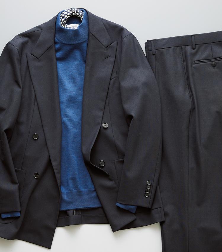 """<p><strong>「知性の""""青""""」×同系色スーツ</strong><br /> 青は知性や誠実さを表す色。さらにスーツを同系色で揃えることでそのイメージが強まる。好印象を確実に得られるコーディネートだ。</p>"""