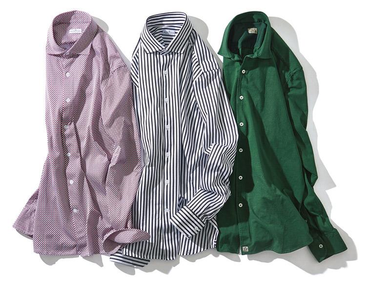 ソンリーサのワイドスプレッドシャツ