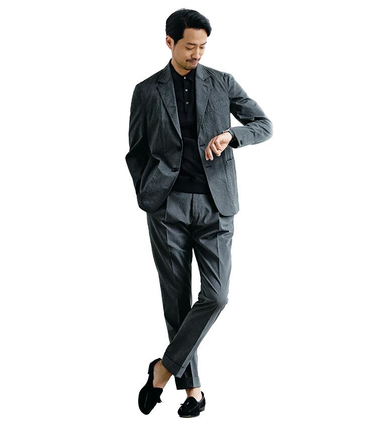 「スーツ」と「セットアップ」の違い_モデルイメージ