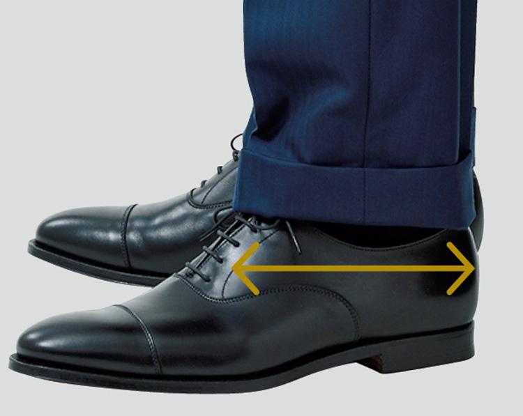 スーツ試着のチェックポイント_パンツの裾幅は約19㎝