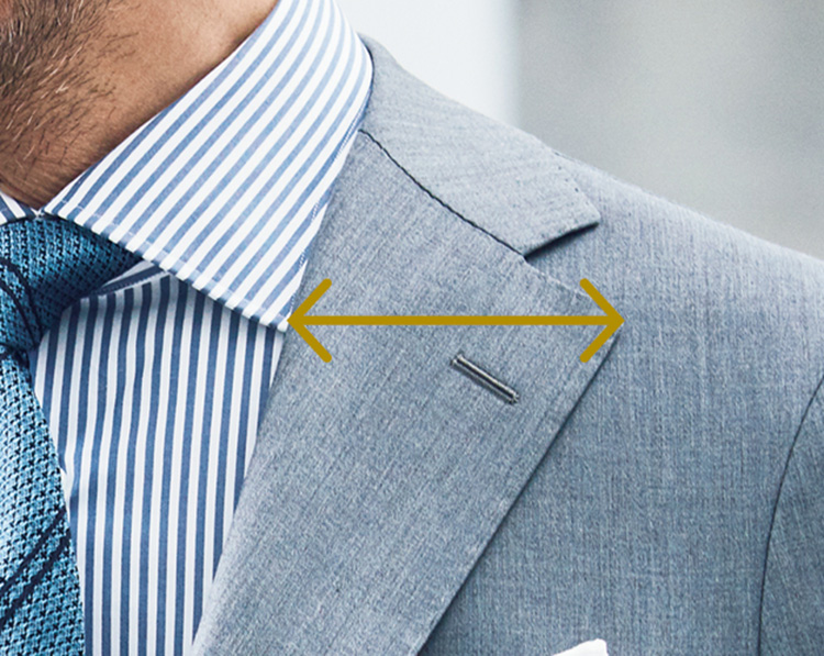 時代で変わるスーツのジャストフィット_ラベル幅の主流
