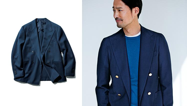 ダブルのジャケットを誰でも軽やかに着こなせる「簡単な技」とは?