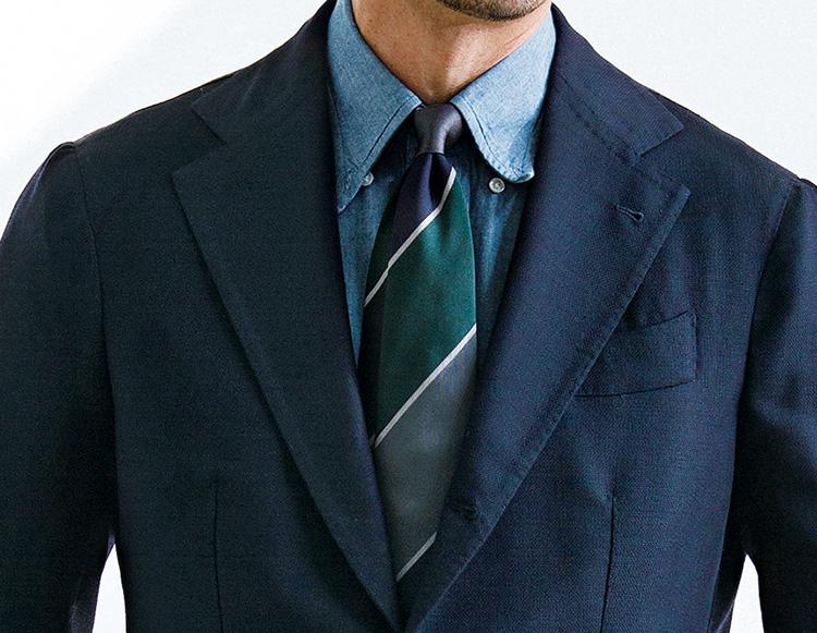 ネクタイの悩み_襟ボタン外しでニュアンスを