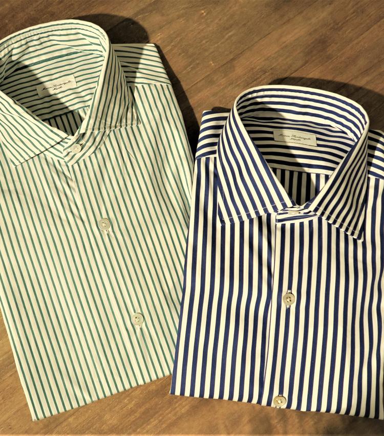 <p>全体的なカジュアル傾向の中でもやはり主力商品としてクラシックシャツは重要。</p>