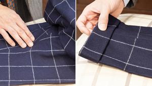 【アイロン上級者向け】パンツは動かさず、素材によってかけ方を変えるべし!