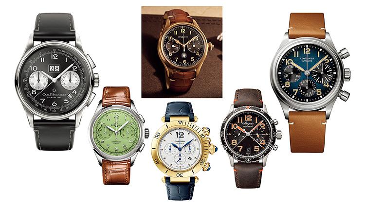 遊び心もある「レトロなクロノグラフ」。新作時計が人気ブランドから続々登場!