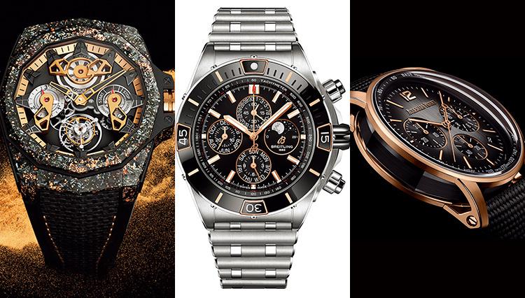 大人の色気を放つ新作ブランド時計なら「ブラック&ゴールド」に注目!