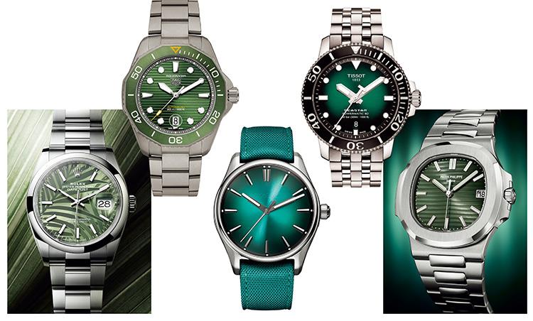 グリーンダイヤル時計