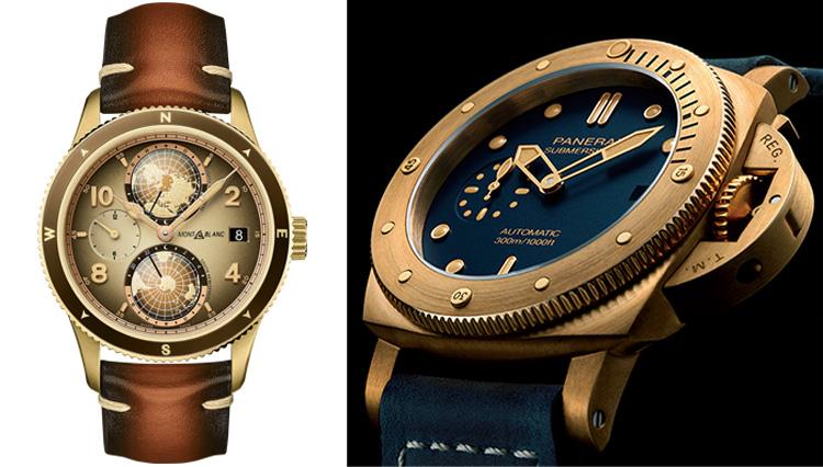 人気ブランドから続々登場する、ブロンズケースの新作時計がシブい!