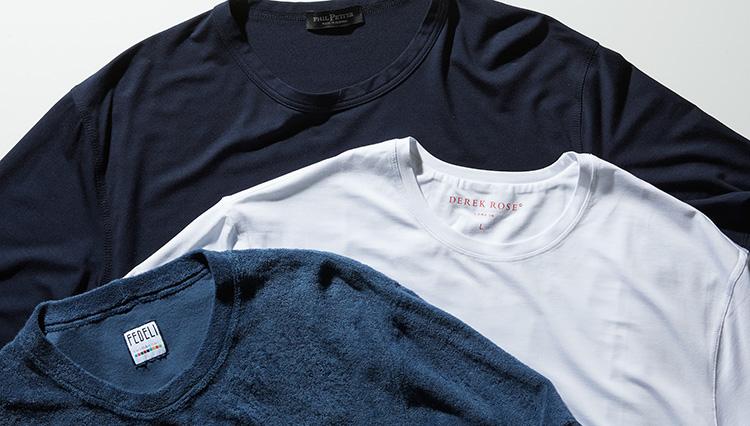 部屋着のTシャツに、あえて最高級を選んでみるという幸福感