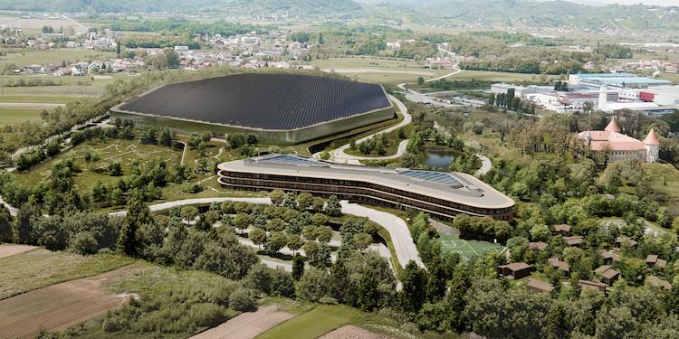 クロアチアに建設された新社屋