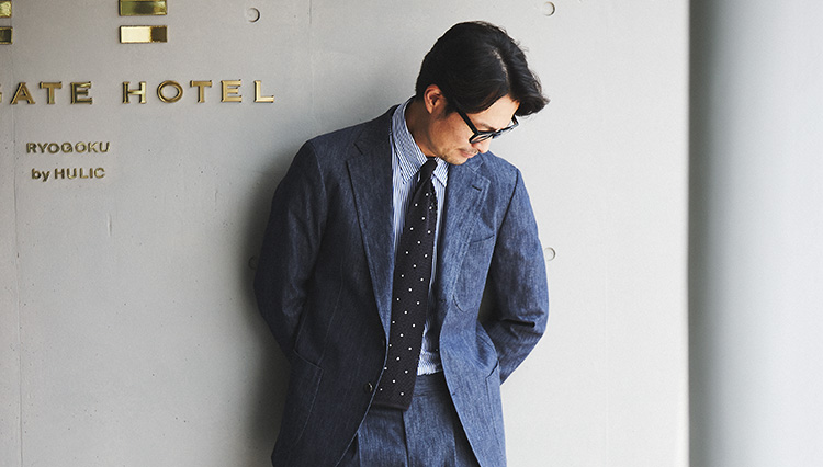 この秋、スーツをデニムストレッチにしてみよう【秋の服50選】