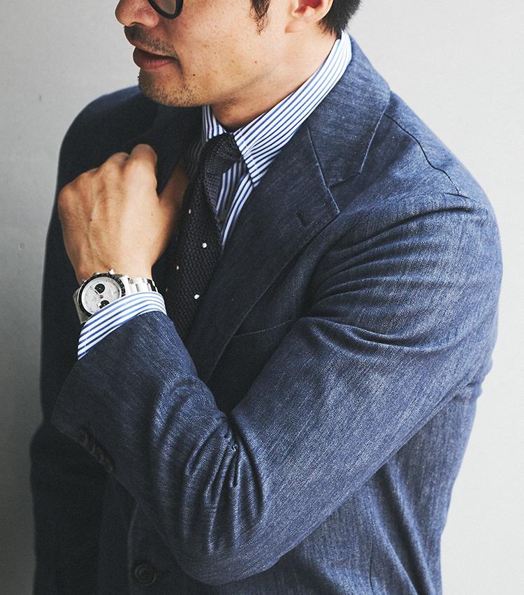 スーツをデニムストレッチにしてみよう 伊の名門が手がける高級デニムを使用